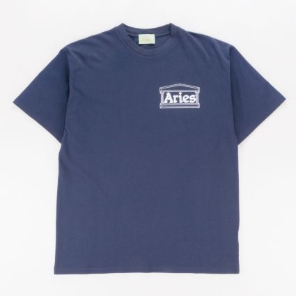 Aries Chi Short Sleeve T-Shirt Navy1