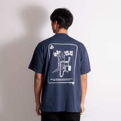 Aries Chi Short Sleeve T-Shirt Navy