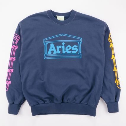 Aries Column Sweatshirt Blue1