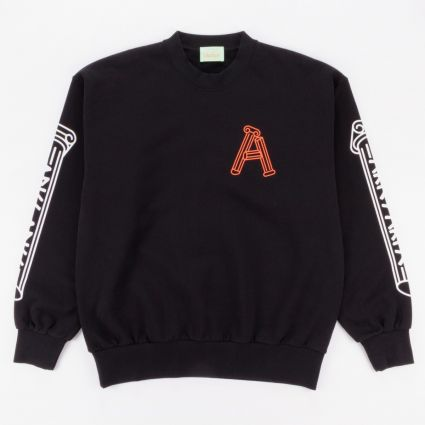 Aries Greek Column Sweatshirt Black1
