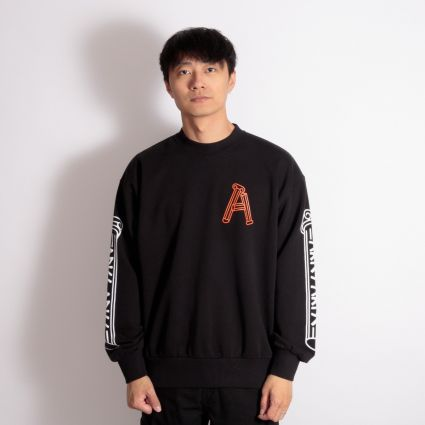 Aries Greek Column Sweatshirt Black