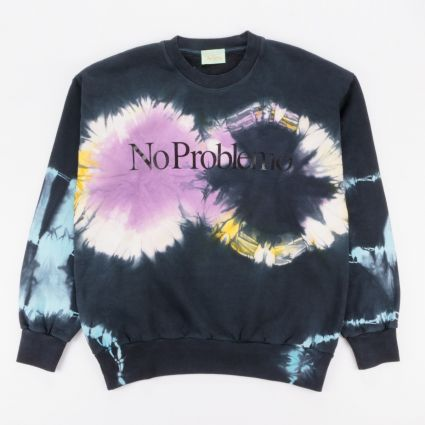 Aries No Problemo Tie-Dye Headlights Sweatshirt Black/Multi1