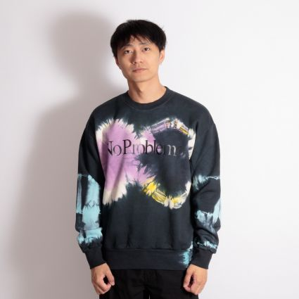 Aries No Problemo Tie-Dye Headlights Sweatshirt Multi/Black