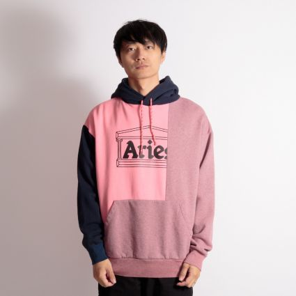 Aries OD Colourblock Temple Hoodie Pink