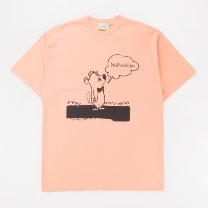 Aries Stoner Bear SS T-Shirt Peach1