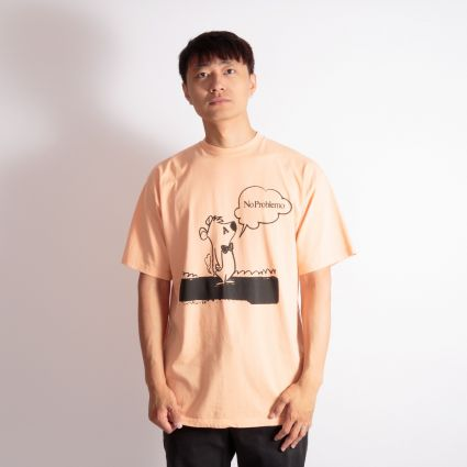 Aries Stoner Bear SS T-Shirt Peach