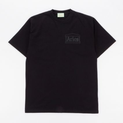 Aries Temple Short Sleeve T-Shirt Black1