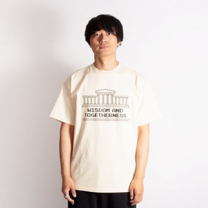 Aries Wisdom And Togetherness T-Shirt Alabaster
