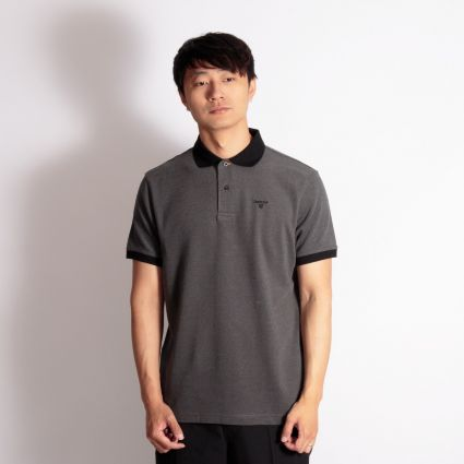 Barbour Sports Polo Mix Shirt Black