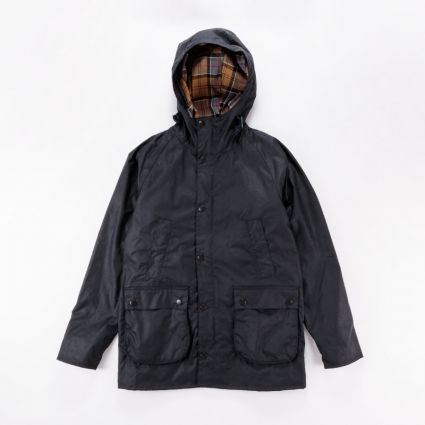 Barbour Bedale Hooded Jacket Navy1