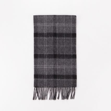 Barbour Holden Scarf Black/Grey Tartan1