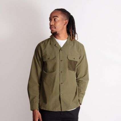 Barbour Leon Ripstop Shirt Olive