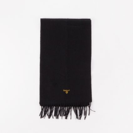 Barbour Plain Lambswool Scarf Black1