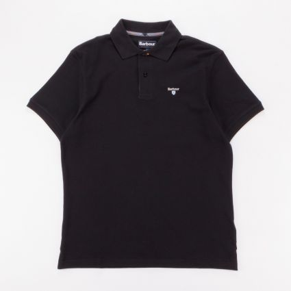 Barbour Tartan Piqué Polo Shirt Black/Modern1