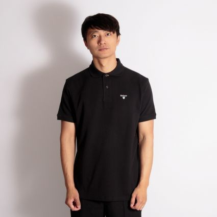 Barbour Tartan Piqué Polo Shirt Black/Modern