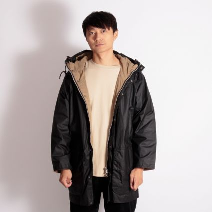 Barbour White Label Hiking Wax Jacket Black