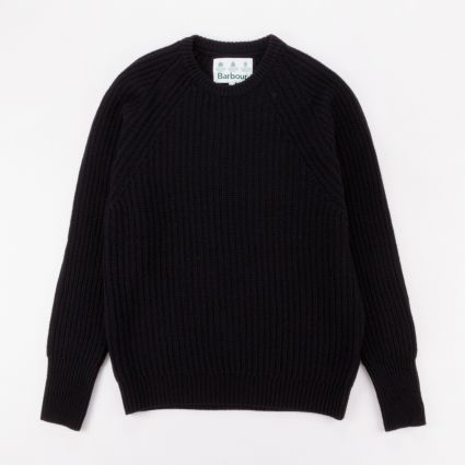 Barbour White Label Tynedale Crew Sweater Black Marl1