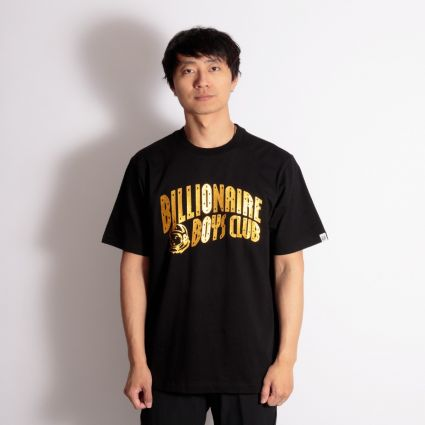 Billionaire Boys Club Arch Logo Glitter T-Shirt Black/Gold