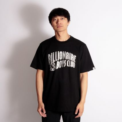 Billionaire Boys Club Arch Logo Glitter T-Shirt Black/Silver