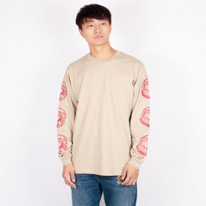 Billionaire Boys Club Astro Repeat L/S T-Shirt Sand