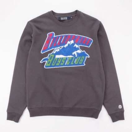 Billionaire Boys Club Chenille Mountain Logo Crewneck Sweatshirt Dark Grey