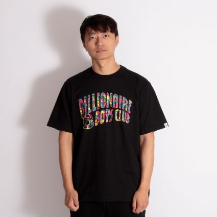 Billionaire Boys Club Confetti Arch Logo T-Shirt Black