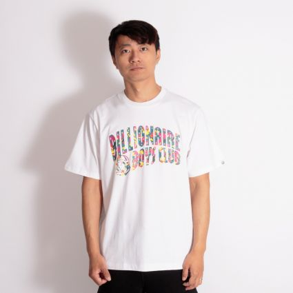 Billionaire Boys Club Confetti Arch Logo T-Shirt White
