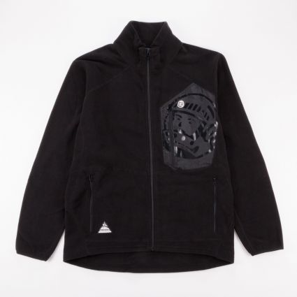 Billionaire Boys Club Contrast Zip Through Fleece Black1