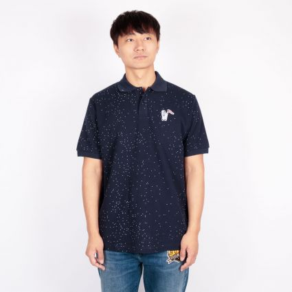 Billionaire Boys Club Deep Space Piqué Polo Shirt Navy