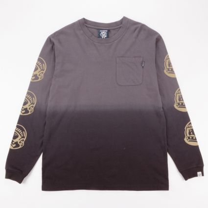 Billionaire Boys Club Dip Dye Long Sleeve T-Shirt Black/Grey1