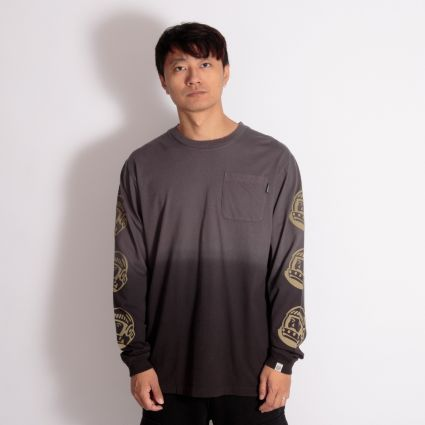 Billionaire Boys Club Dip Dye Long Sleeve T-Shirt Black/Grey