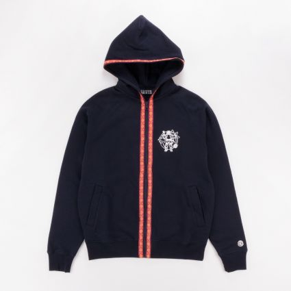 Billionaire Boys Club Heart & Mind Taped Zip Through Hoodie Navy1