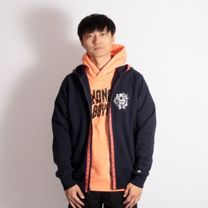 Billionaire Boys Club Heart & Mind Taped Zip Through Hoodie Navy