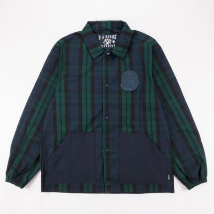Billionaire Boys Club Plaid Shell Coach Jacket Navy
