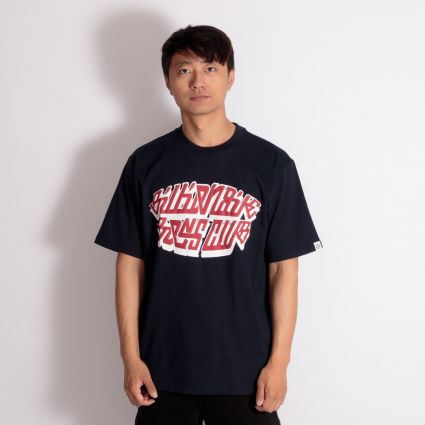 Billionaire Boys Club Puff Print Logo T-Shirt Navy