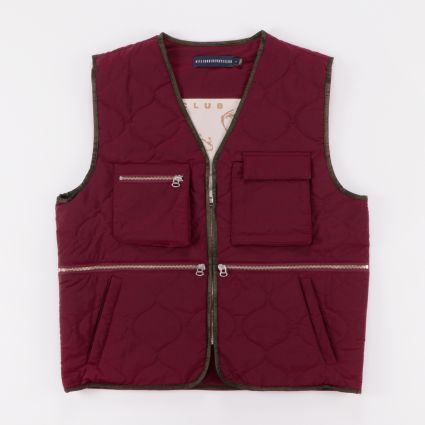 Billionaire Boys Club Quilted Liner Burgundy