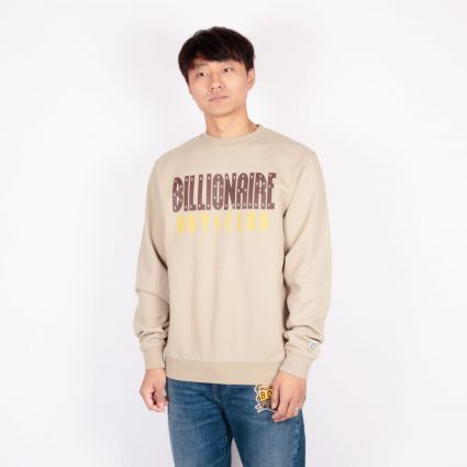 Billionaire Boys Club Straight Logo Crewneck Sweatshirt Sand