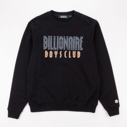 Billionaire Boys Club Straight Logo Crewneck Sweatshirt Black