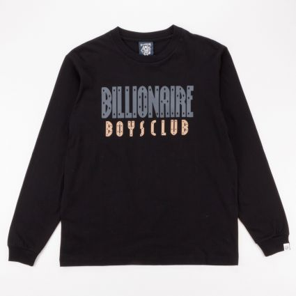 Billionaire Boys Club Straight Logo Long Sleeve T-Shirt Black1