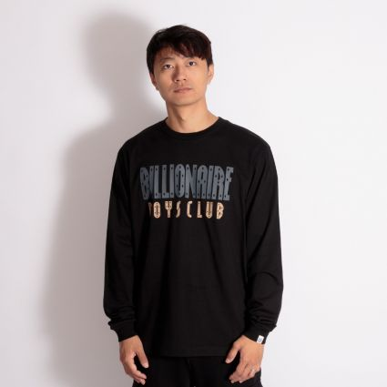 Billionaire Boys Club Straight Logo Long Sleeve T-Shirt Black