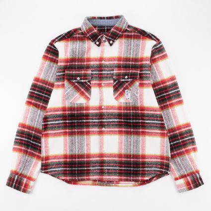 Billionaire Boys Club Wool Check Shirt Brown1