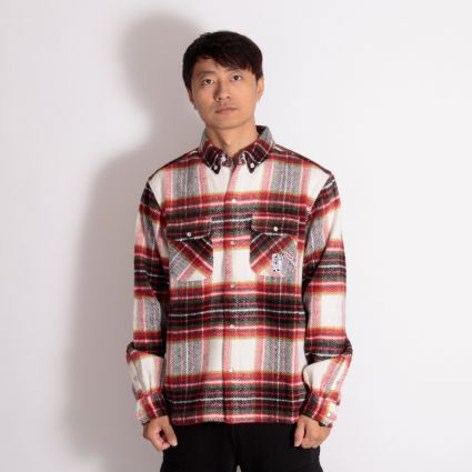 Billionaire Boys Club Wool Check Shirt Brown