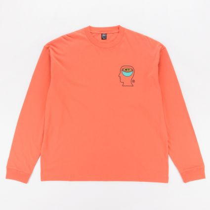 Brain Dead Earthworks Long Sleeve T-Shirt Orange1