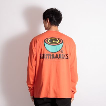 Brain Dead Earthworks Long Sleeve T-Shirt Orange