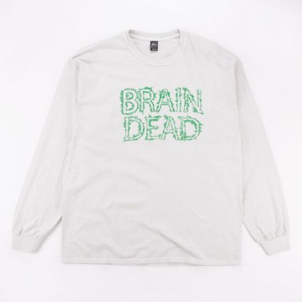 Brain Dead Gooey Long Sleeve Tee Cement1