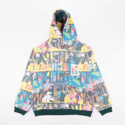 Brain Dead Leon Sadler All Over Print Hoodie Multi1