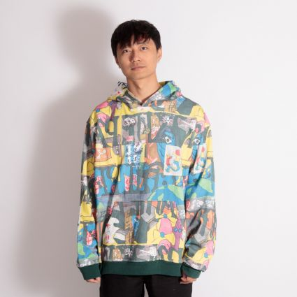 Brain Dead Leon Sadler All Over Print Hoodie Multi