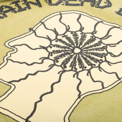 Brain Dead Migraine Short Sleeve T-Shirt Olive Drab