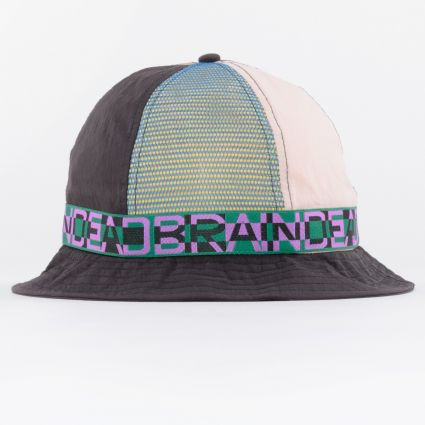 Brain Dead Nigel Colour Blocked Bell Bucket Hat Black