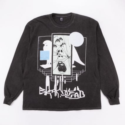 Brain Dead Shriek Of The Falcon Long Sleeve Tee Washed Black1